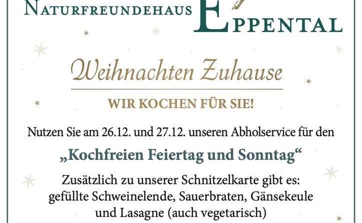 Naturfreundehaus Groß Eppental To Go Weihnachtskarte
